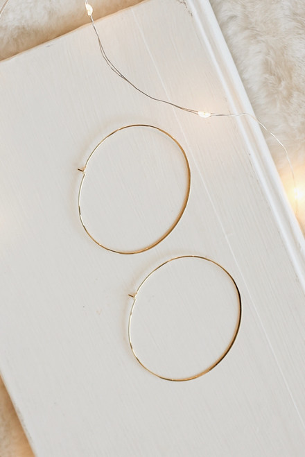 Gold - Oval Hoop Earrings from Dress Up