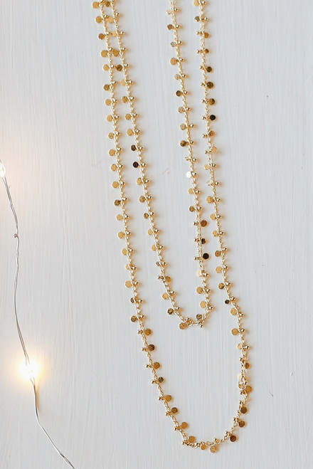 Gold - Circle Charm Necklace from Dress Up
