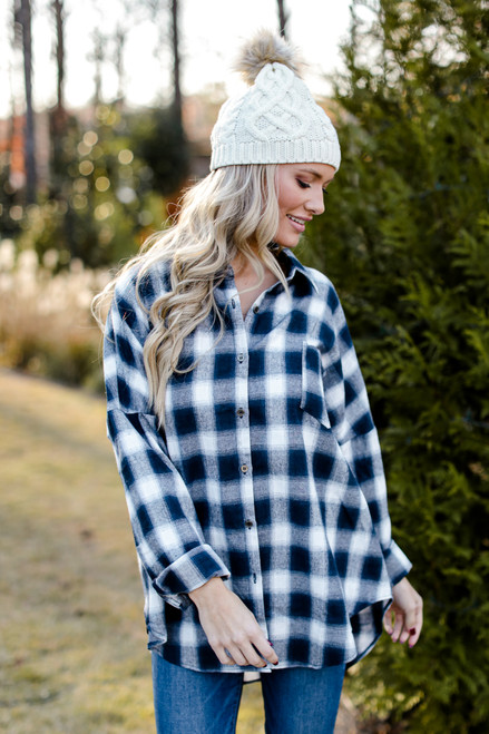 Navy - Oversized Flannel from Dress Up