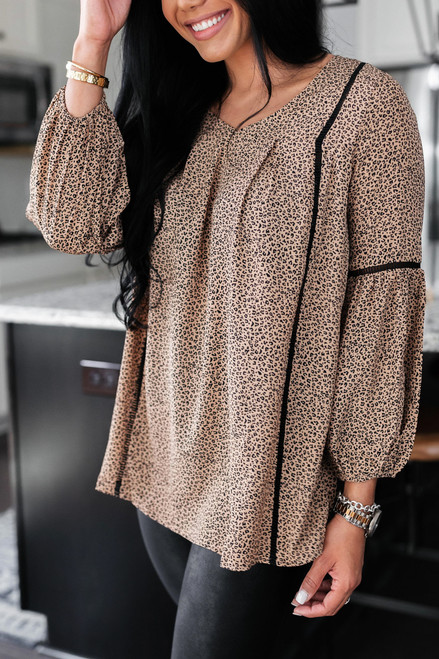Taupe - Leopard Blouse from Dress Up @lismarie_lifestyle