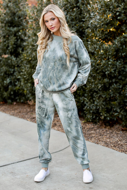 Sage - Oversized Tie-Dye Pullover from Dress Up