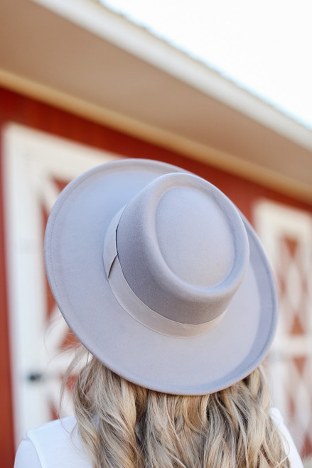 Grey - Wide Brim Hat from Dress Up