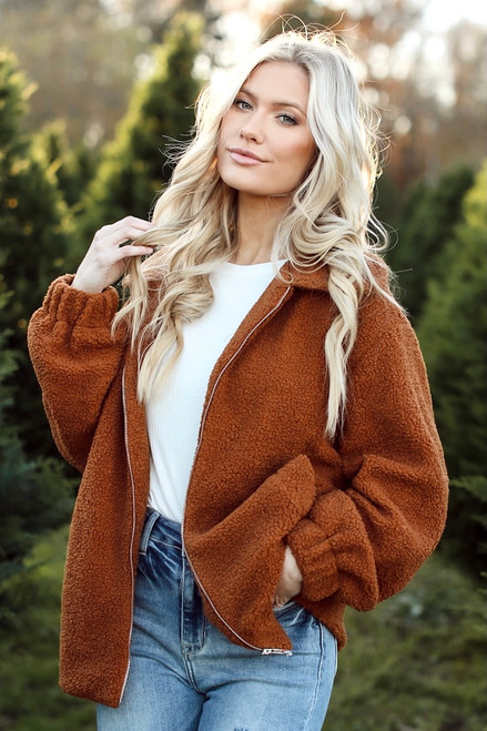 Camel - Sherpa Teddy Jacket from Dress Up