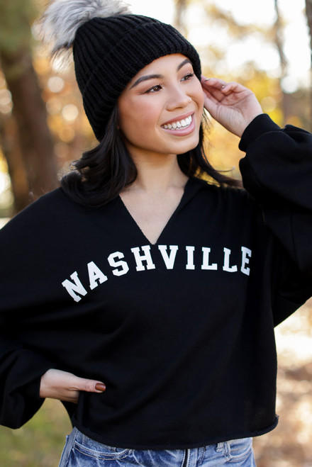 Black - Nashville Cropped Hoodie from Dress Up
