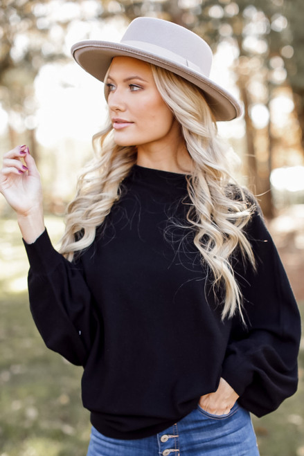 Black - Oversized Soft Knit Sweater from Dress Up