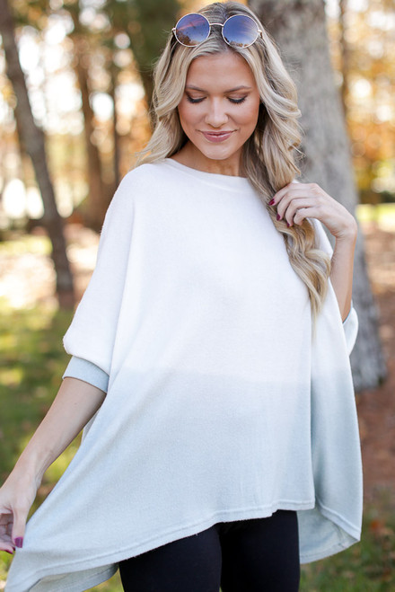 Mint - Oversized Brushed Knit Ombre Top from Dress Up