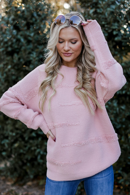 Blush - Oversized Fuzzy Knit Sweater from Dress Up