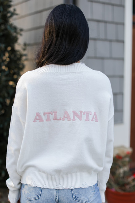 Ivory - Atlanta Distressed Sweater