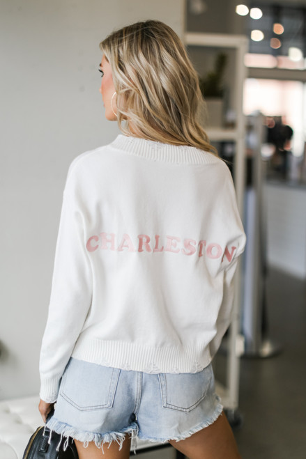 Ivory - Charleston Distressed Sweater