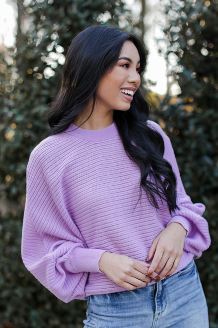 Lavender - Loose Knit Sweater from Dress Up