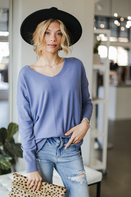 Denim - Soft Knit Sweater