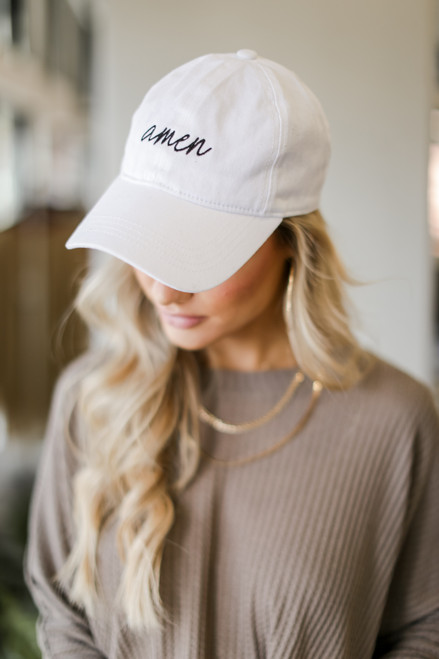White - Amen Cap from Dress Up
