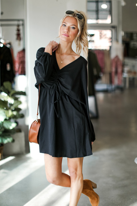 Black - Ruched Dress from Dress Up