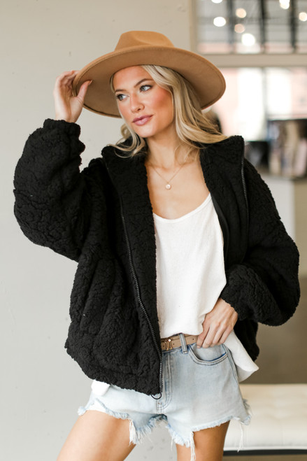 Black - Sherpa Jacket