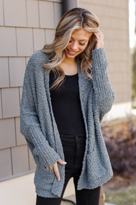 Olive - Popcorn Knit Cardigan from Dress Up