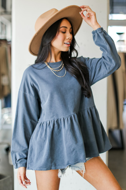 Denim - Oversized Babydoll Pullover from Dress Up