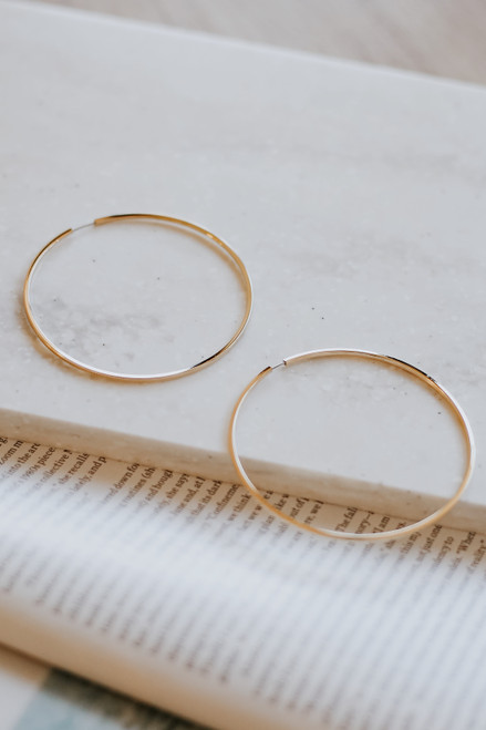 Gold - Hoop Earrings