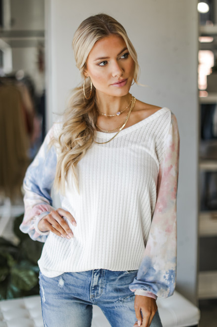 Blush - Tie-Dye Ribbed Knit Top from Dress Up