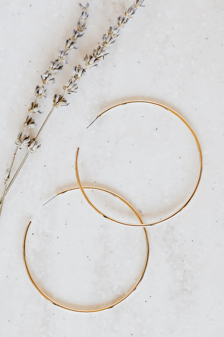 Gold - Oversized Hoop Earrings