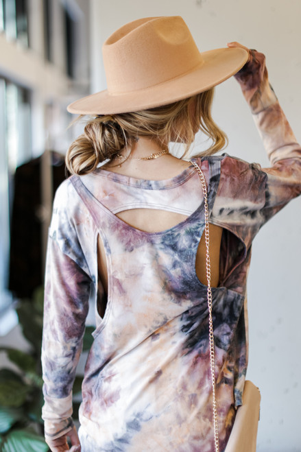 Blush - Oversized Tie-Dye Cutout Top from Dress Up
