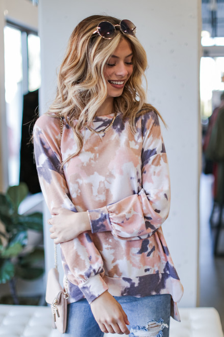 Blush - Oversized Tie-Dye Pullover