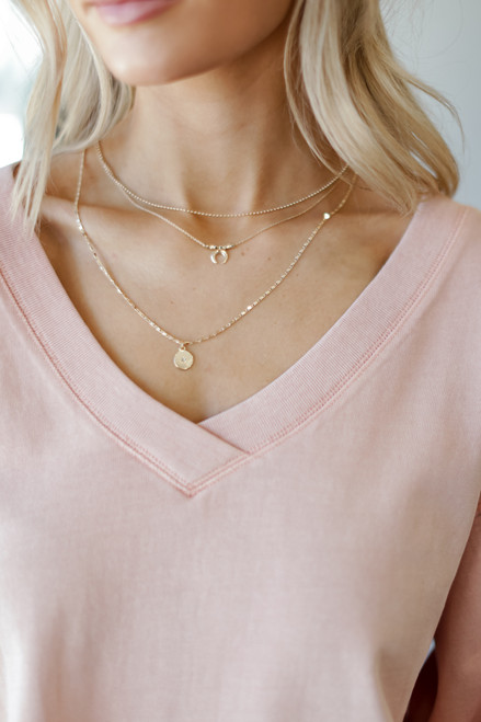 Gold - Celestial Layered Necklace