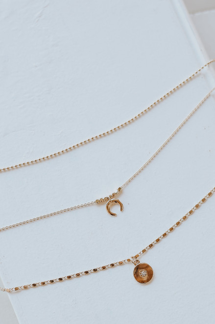Gold - Celestial Layered Necklace from Dress Up