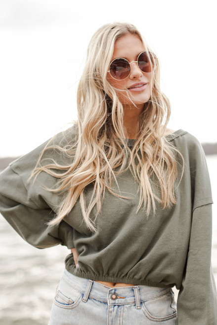 Olive - Cropped Pullover from Dress Up