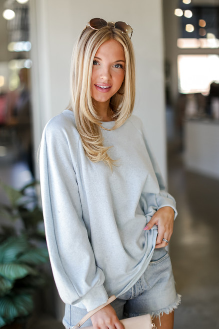 Blue - Oversized Pullover from Dress Up