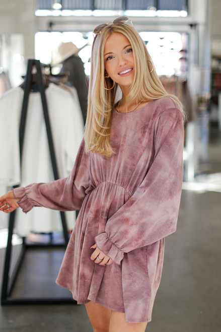 Lavender - Tie-Dye Babydoll Dress