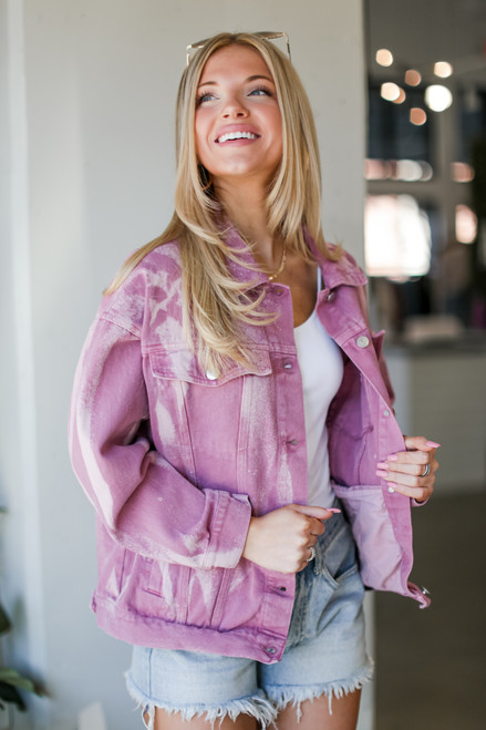 Blush - Acid Washed Denim Jacket from Dress Up
