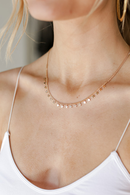 Gold - Star Necklace