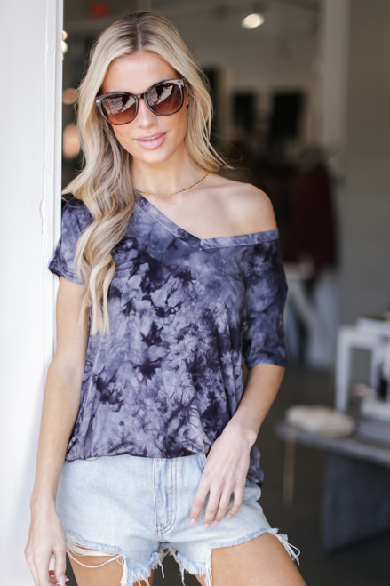 Black - Tie-Dye Tee from Dress Up