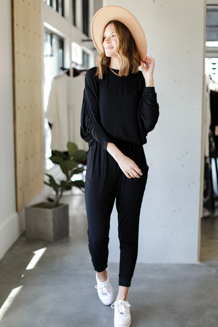 Black - Drawstring Jumpsuit from Dress Up