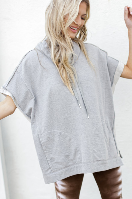 Heather Grey - Oversized Cowl Neck Pullover from Dress Up