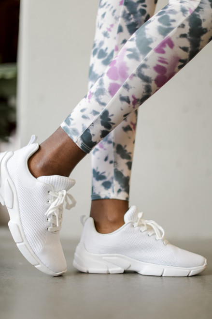White - Knit Sneakers