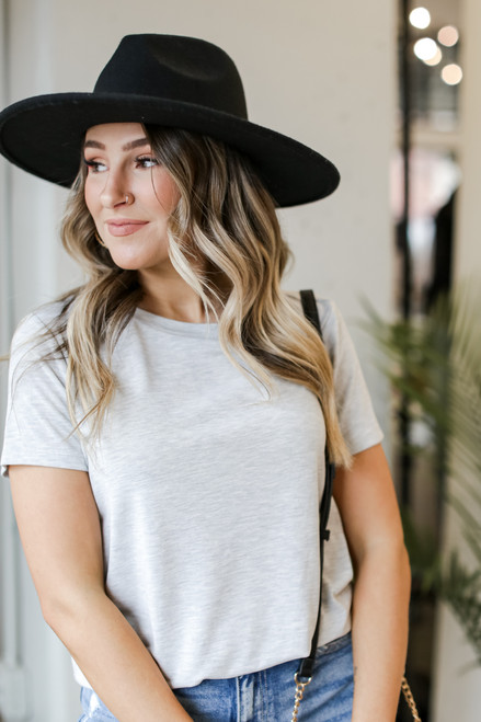 Heather Grey - Ultra Soft Basic Tee from Dress Up