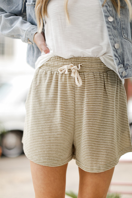 Sage - Striped Lounge Shorts