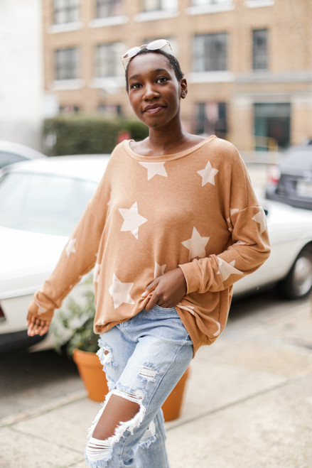 Rust - Oversized Star Pullover
