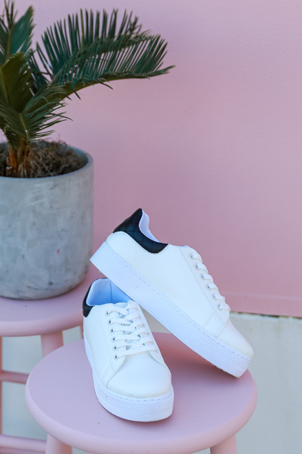 White - Platform Sneakers from Dress Up