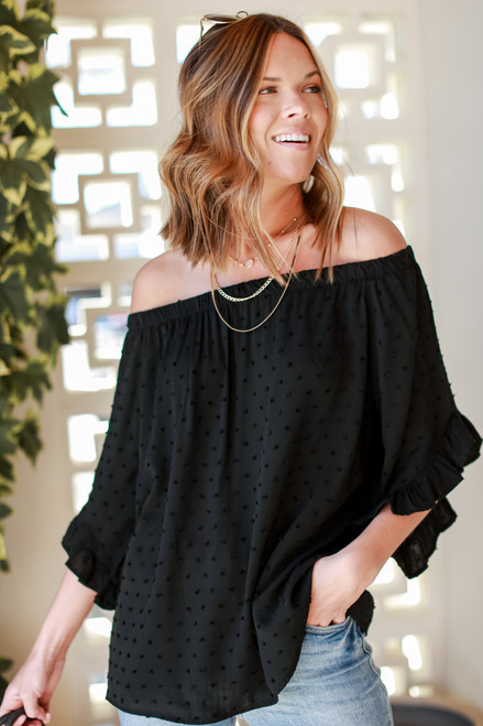 Black - Off-the-Shoulder Top