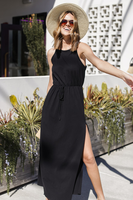 Black - T-Shirt Maxi Dress from Dress Up