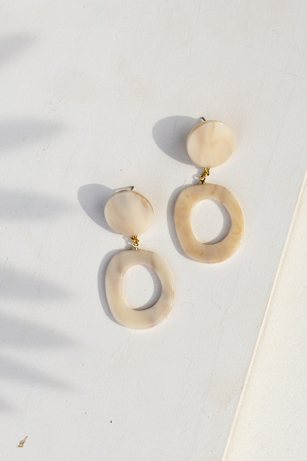 Ivory - Acrylic Drop Earrings