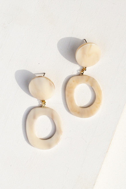 Ivory - Acrylic Drop Earrings from Dress Up