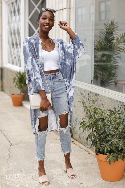 Blue - Tie-Dye Kimono from Dress Up