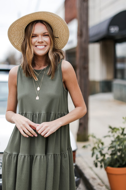 Olive - Tiered Tank Dress from Dress Up