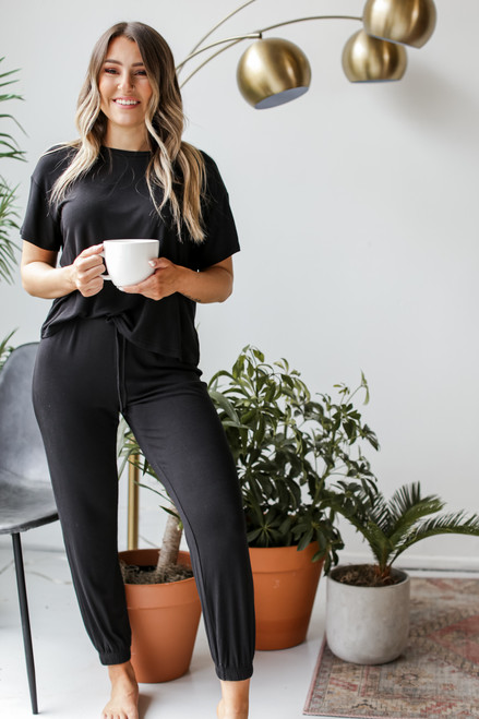 Black - Feel Good Joggers