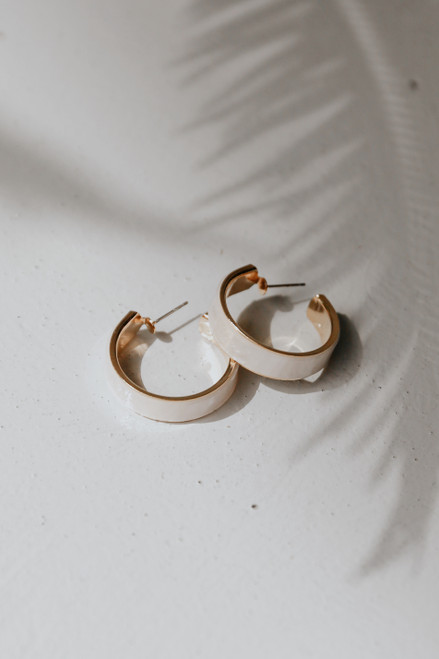 Ivory - Hoop Earrings from Dress Up