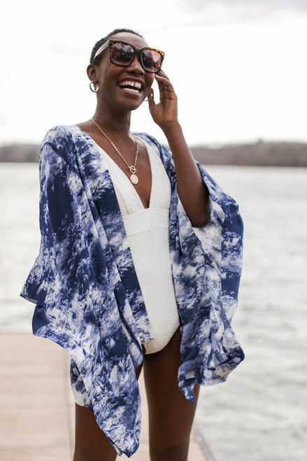 Blue - Ocean Tide Kimono from Dress Up