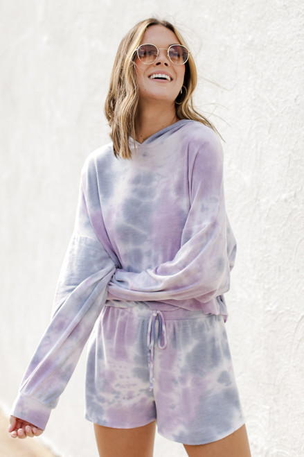 Purple - Terry Jersey Hoodie from Dress Up